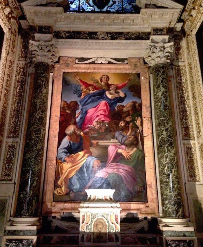 カラヴァッジョのライバル、カラッチの「聖母被昇天」