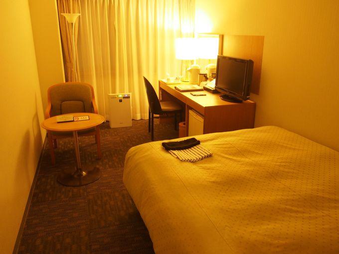 機能性に優れたベッドとゆったりした雰囲気