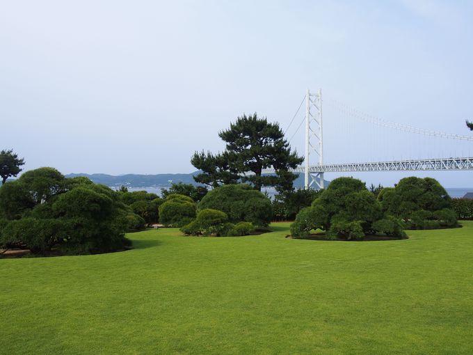 瀬戸内海と舞子の雰囲気が味わえる「庭園」