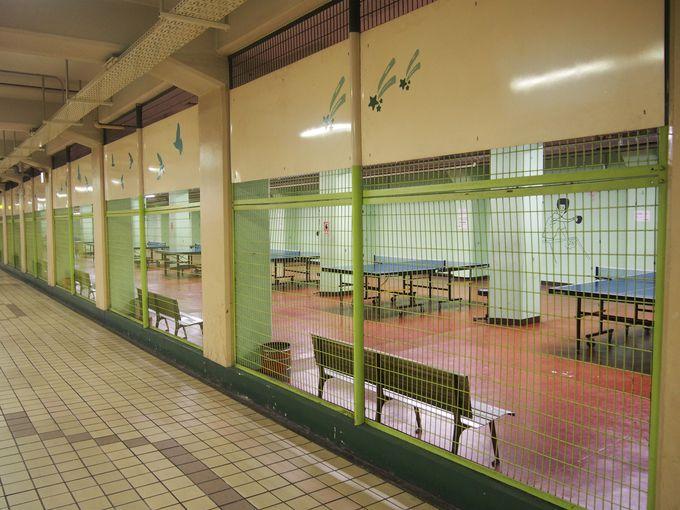 地下街「メトロこうべ」にある卓球場