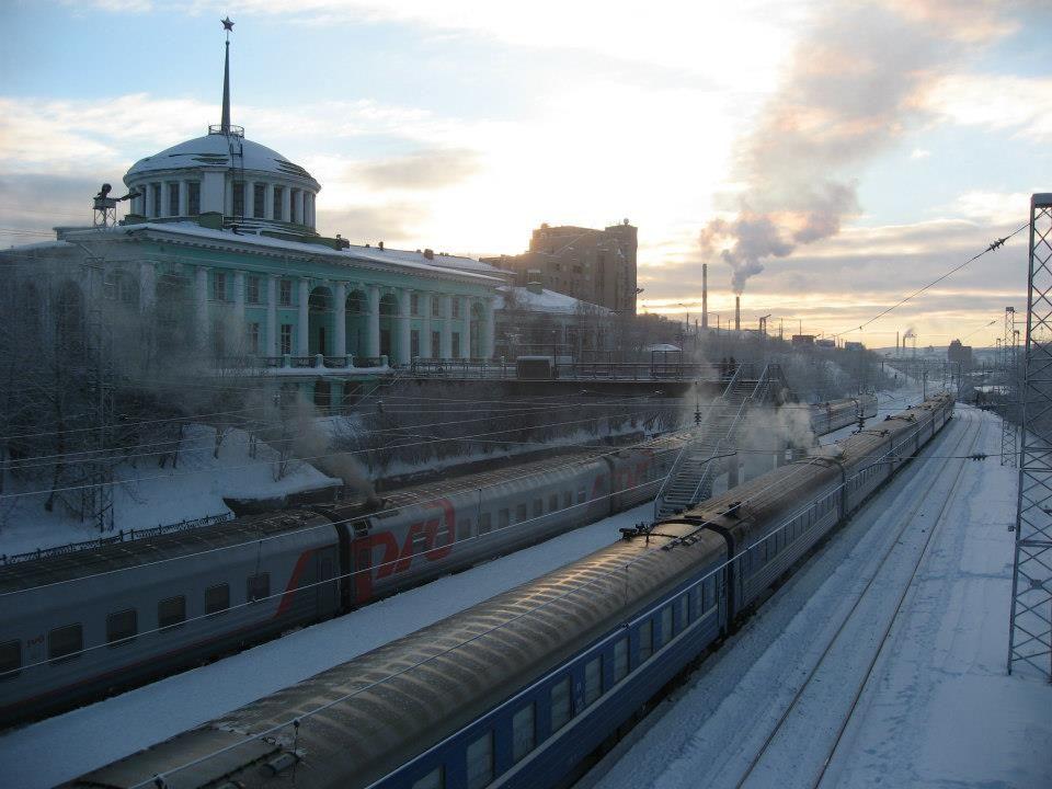 世界最北の旅客駅、ムルマンスク駅