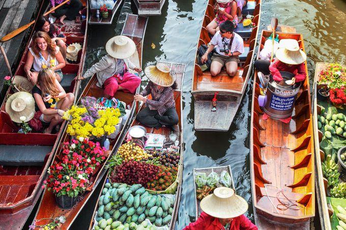 タイに来た!と実感できる活気溢れる「ダムヌン・サドゥアク水上マーケット」