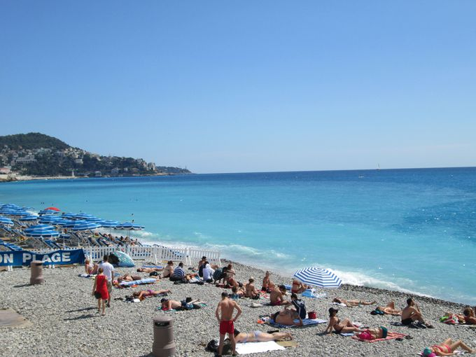 目の前に広がる地中海の絶景!