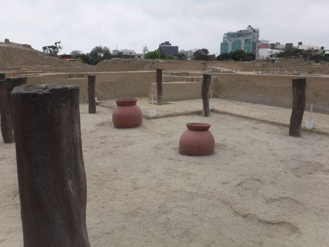 リマ文明時代の食堂跡