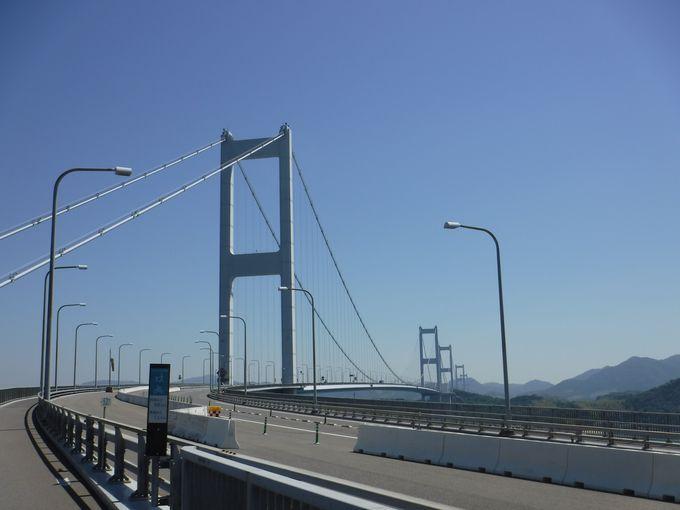 しまなみ海道の愛媛の玄関口「来島海峡大橋」の絶景スポット