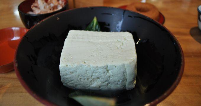 幻の「青ばと豆腐」