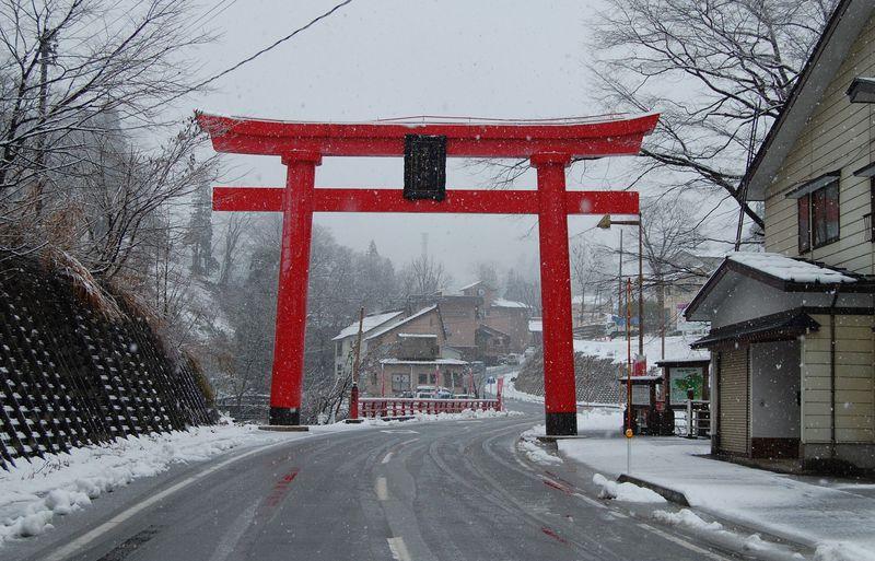 雪深い地の縁起の湯!長岡・蓬平温泉と高龍神社