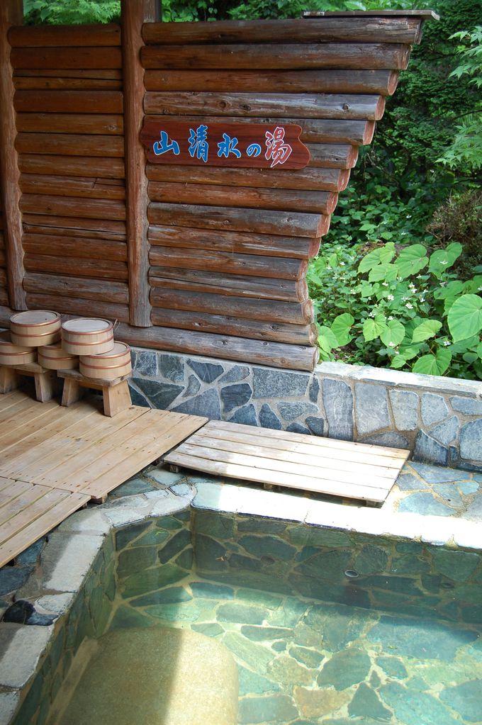 露天風呂は山清水