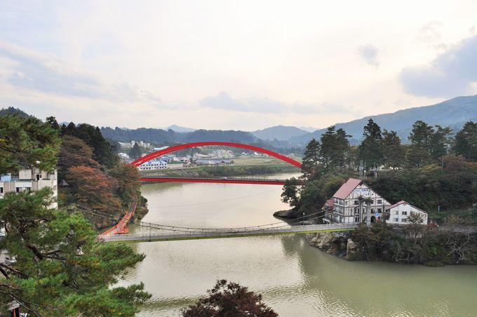 柳津の町は川が中心
