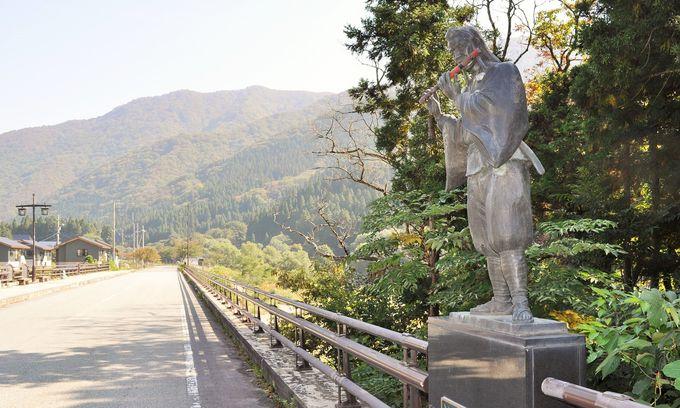 義経が橋で笛を吹く!山形・瀬見温泉は見どころ満載
