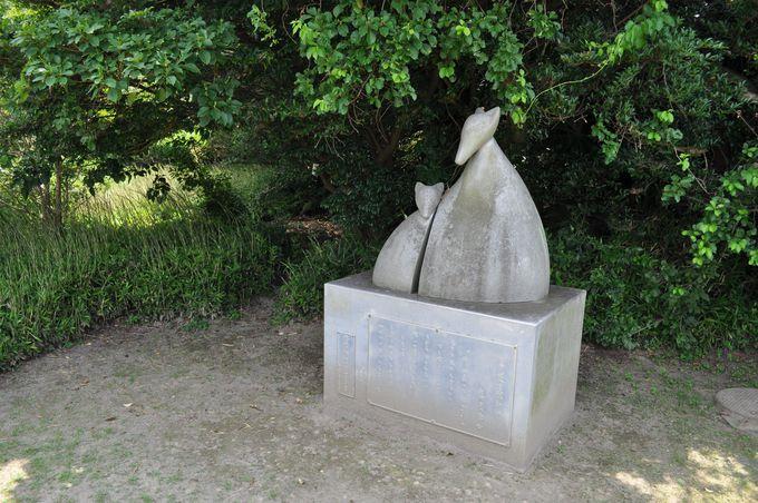 記念館の周りの南吉文学