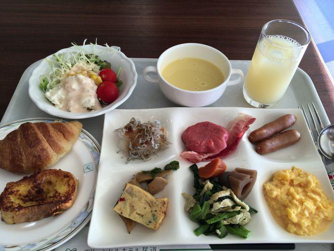 地元の名産品や身体に良いご飯が食べられる朝食バイキング