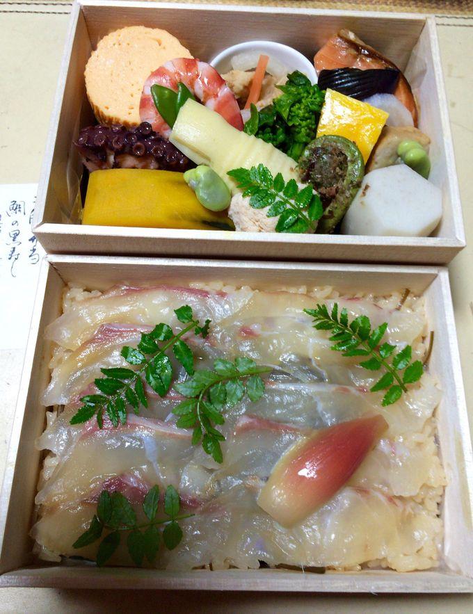 特製ちらしと旬の素材の組み合わせ、紫野和久傳の『二段弁当』