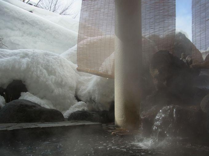 雪見露天風呂は2か所!それぞれの眺めを楽しんで