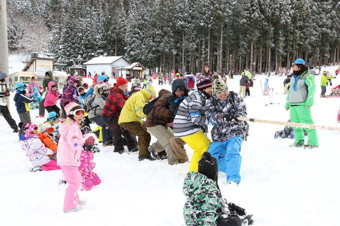 スキーの合間に楽しめる、冬の昼間のイベント