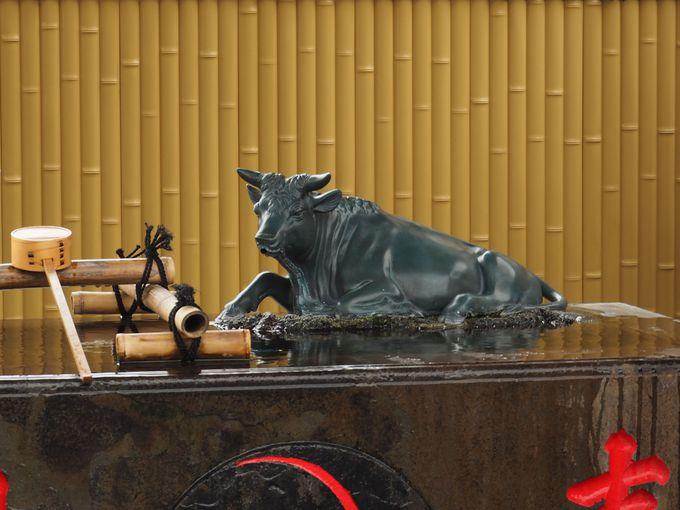 羽田神社の御祭神や御由緒、手水舎に牛がいる理由