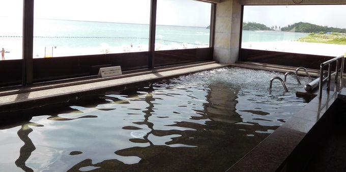 海を眺めてゆったりお風呂…沖縄では珍しい大浴場