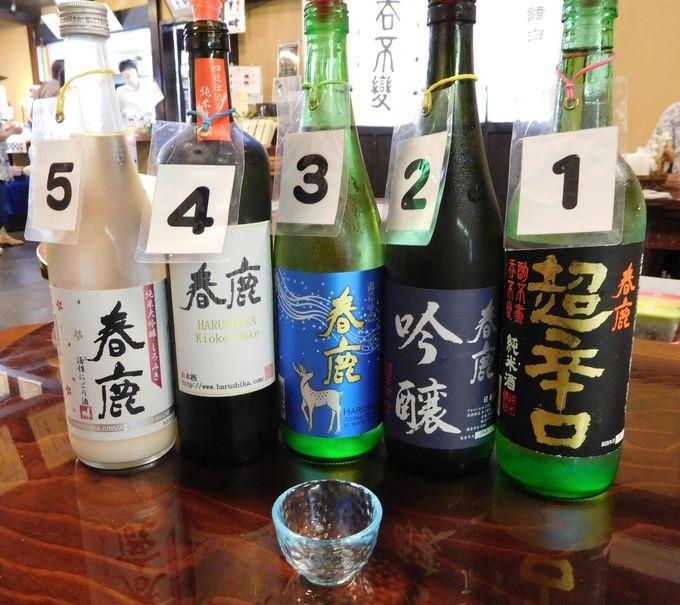 人気の日本酒5種飲み比べ!丁寧な説明つきで初心者も楽しめる