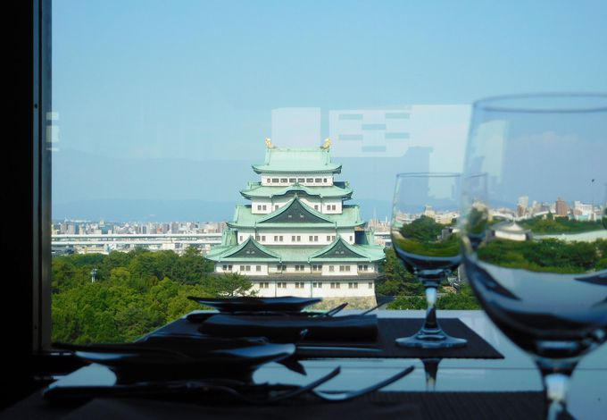 ホテルの優雅なお食事は、もちろん名古屋城とご一緒に