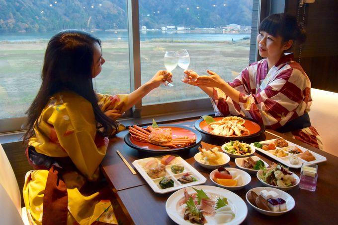 日本海の幸!但馬の恵み!温泉の夜はバイキングで好きなものを好きなだけ!