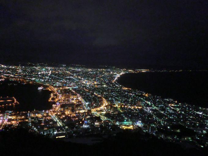 日本三大夜景・函館山からの眺め
