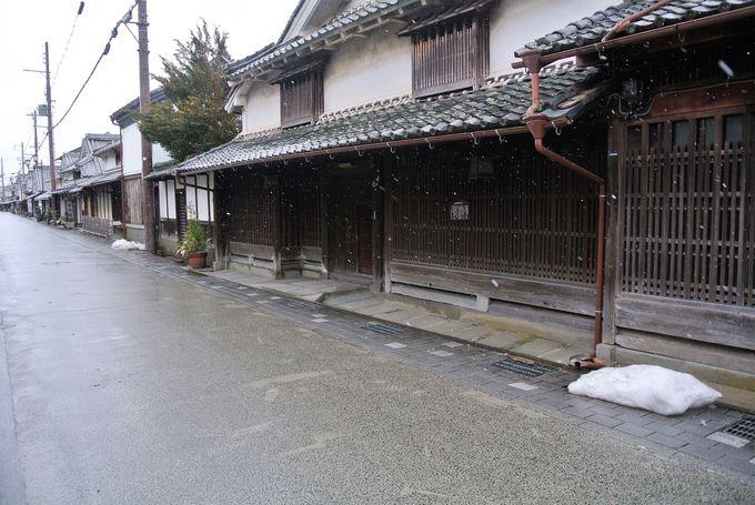 江戸時代の風情を残す町並み