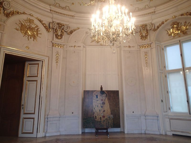 クリムトの『接吻』と記念のキスを…ウィーン・ベルヴェデーレ宮殿