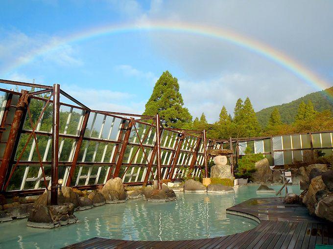 温泉テーマパークの様な大浴場「御山の湯」で本格派の白濁硫黄泉を楽しもう!