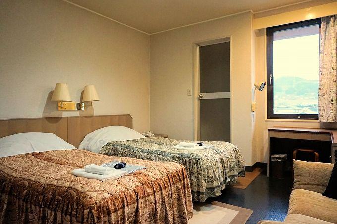 「山水グローバルイン」は素泊まりが基本。リーズナブルな宿泊料金でお手軽ステイ!