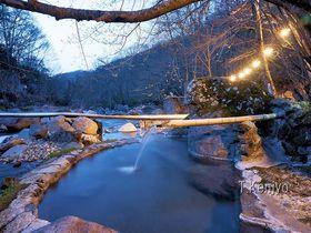 蒼く染まるマジックタイム!福島の秘湯・二岐温泉「柏屋」|福島県|トラベルjp<たびねす>