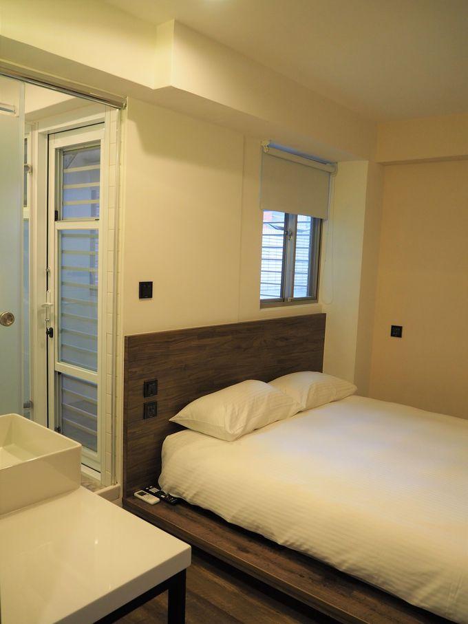 ウイカムホステルのダブルベッドルームはホテルさながら