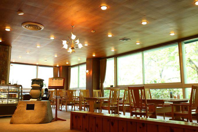 穂高連峰が一望できるカフェレストラン