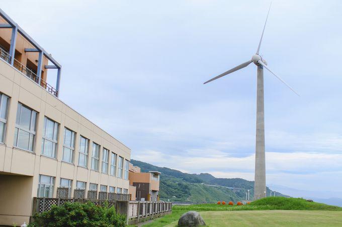 周辺には日本初!コンクリートタワーの風車も