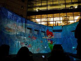 リトルマーメイドのプロジェクションマッピングも!横浜ランドマークのクリスマスはディズニー一色!