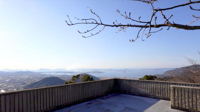 讃岐富士が見える「白峰展望台」