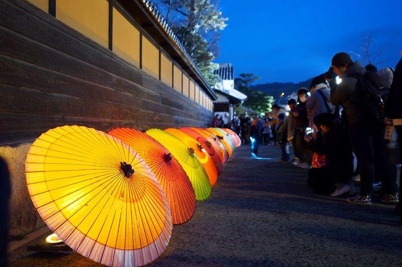 夜の美観地区を彩る灯りのイベント「倉敷春宵あかり」がロマンチック!