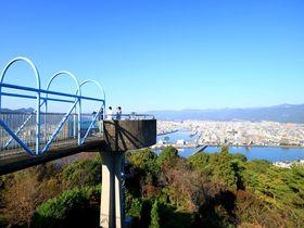 龍馬カプチーノと共に高知市内のパノラマビューを!「五台山展望台」