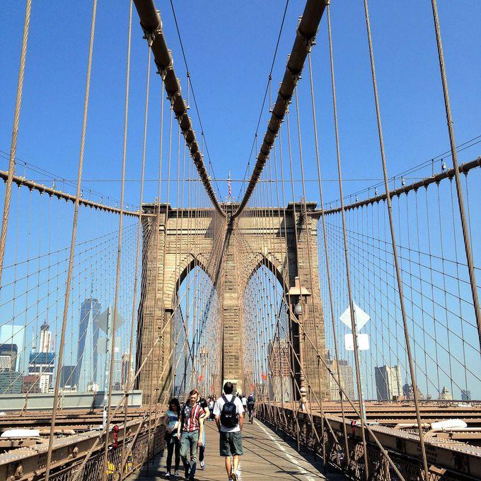 ブルックリンブリッジは、ブルックリン「ダンボ地区」側からがお勧め!