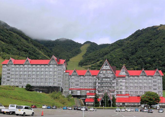 ホテルの周囲には「アドベンチャーランド」、「イングリッシュガーデン」、「アジサイ園」も