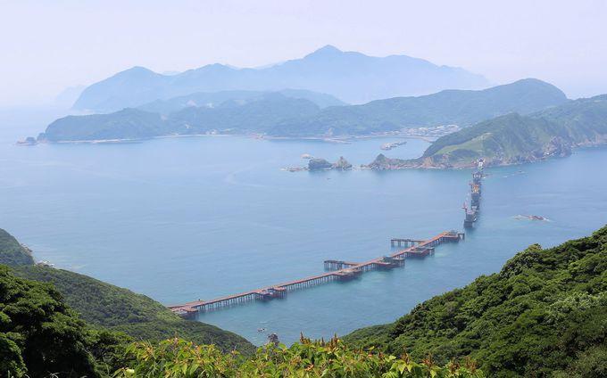 北海道の函館に匹敵する上甑島「里町」のトンボロ地形