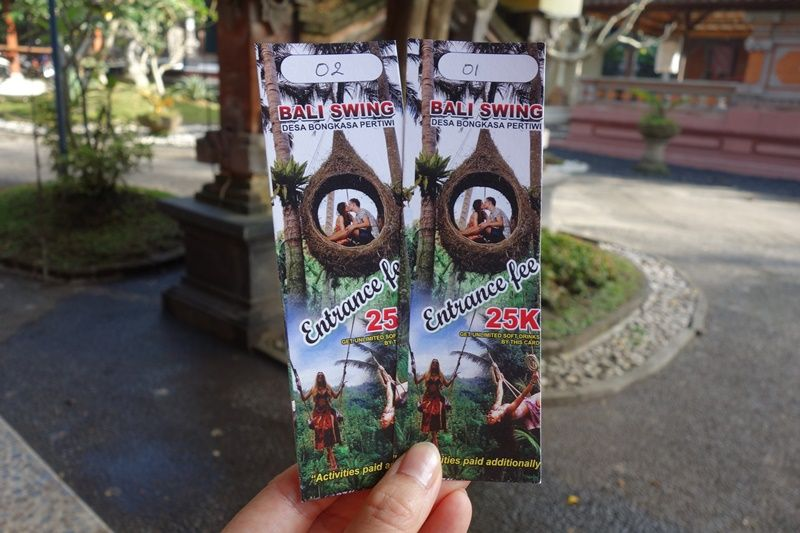 「Bali Swing」へのアクセスと料金、申し込みについて