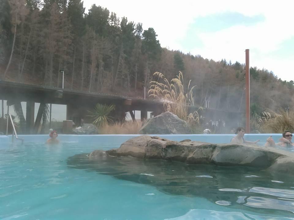 トレッキングのあとの温泉「テカポスプリングス」は最高!