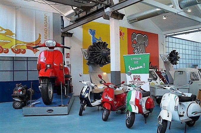 博物館ならでは!歴代のかっこいいオートバイ、かわいいスクーターがズラリ!