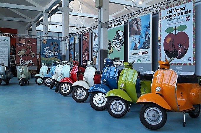 トスカーナ「ピアッジョ(Piaggio)博物館」イタリアンデザインのかわいいベスパがいっぱい!