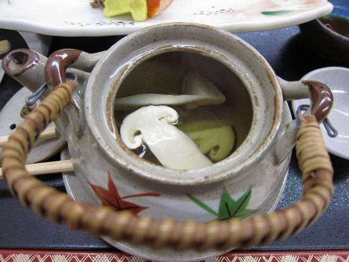 夕食は、松茸料理を含む会席コースで大満足