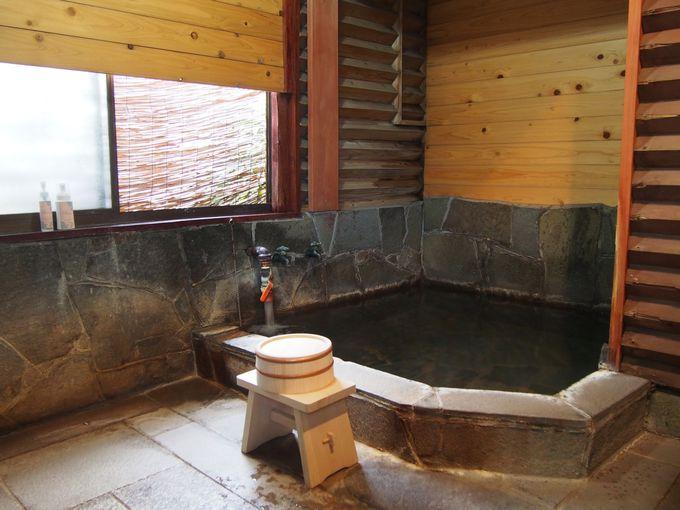 贅沢なプライベート温泉を堪能!身体をゆっくりあたためてからトリートメントへ。