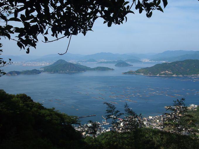 標高400メートルから瀬戸内海を展望!