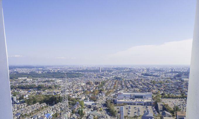 最上階からは仙台の街並みを眺めることも