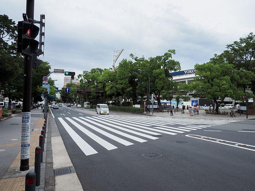 横浜スタジアムがすぐ