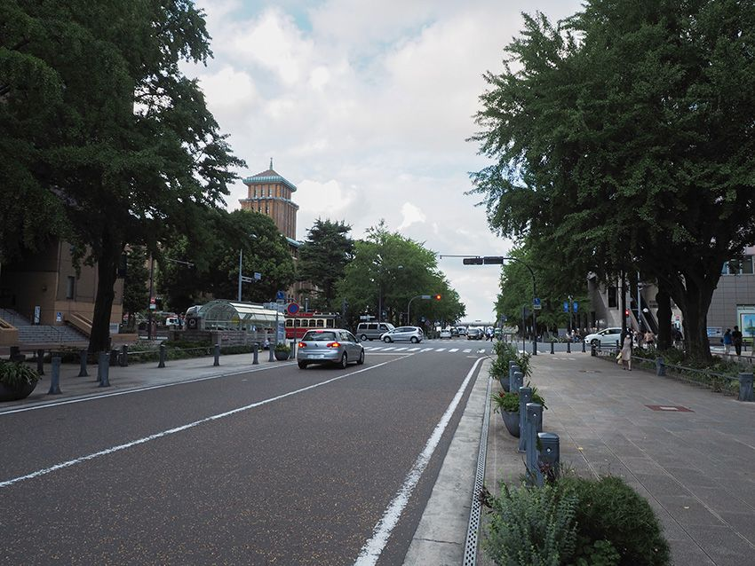 日本で初めての西洋式街路